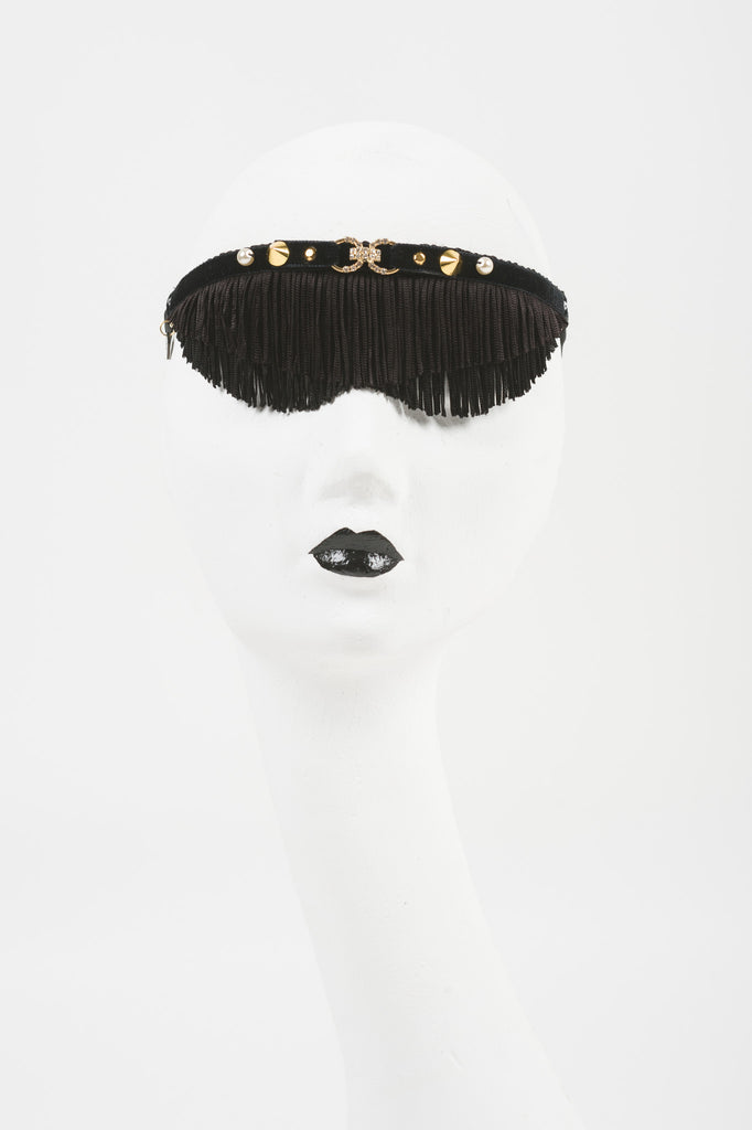 Black Fringe Blindfold