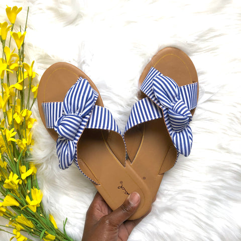 blue bow tie sandals