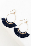 Fringe Tassel Fish Hook Earrings