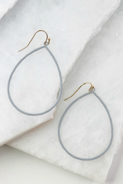 grey tear drop earrings