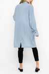 blue duster coat for women