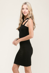 cutest black bodycon dress