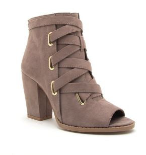taupe booties for women