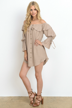 Long sleeve bell dress