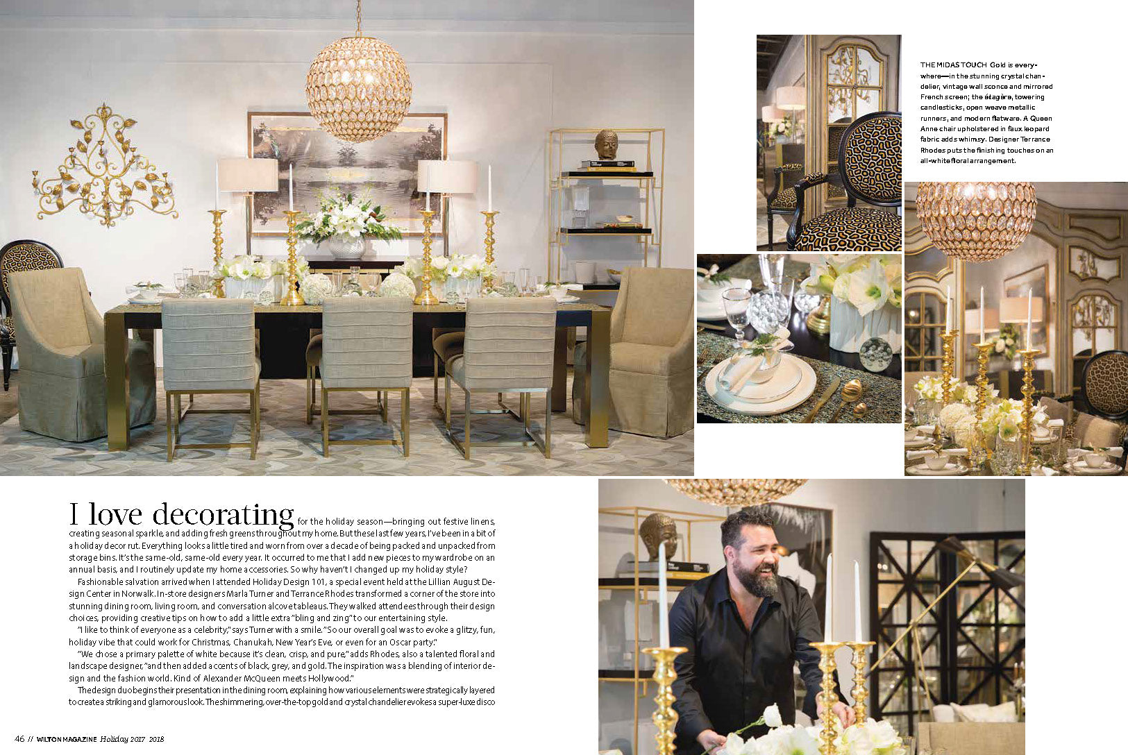 ... Rhodes At A Recent Design 101 Event At The Lillian August Design Center  Grace The Cover Of Wilton Magazine And Are Featured In This Magazine, ...