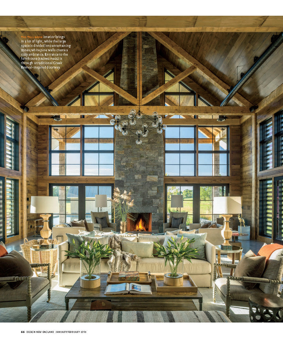 Lillian August Designers, Nancy Galasso And Richard Cerrone Took A Fresh,  Modern Approach To Moxie Hill Farm, A Traditional New England Barn In  Vermont That ...