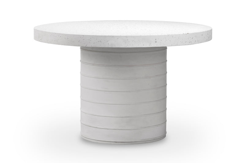 "BEYER DINING TABLE WITH 54"" WHITE CARRERA MARBLE TOP"