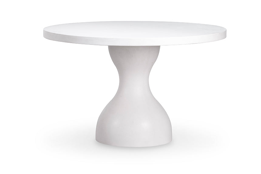 "PARROT DINING TABLE WITH 60"" NATURAL IVORY CONCRETE TOP"