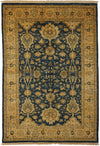 "Oushak, Blue Wool Area Rug - 5' 2"" x 7' 5"""