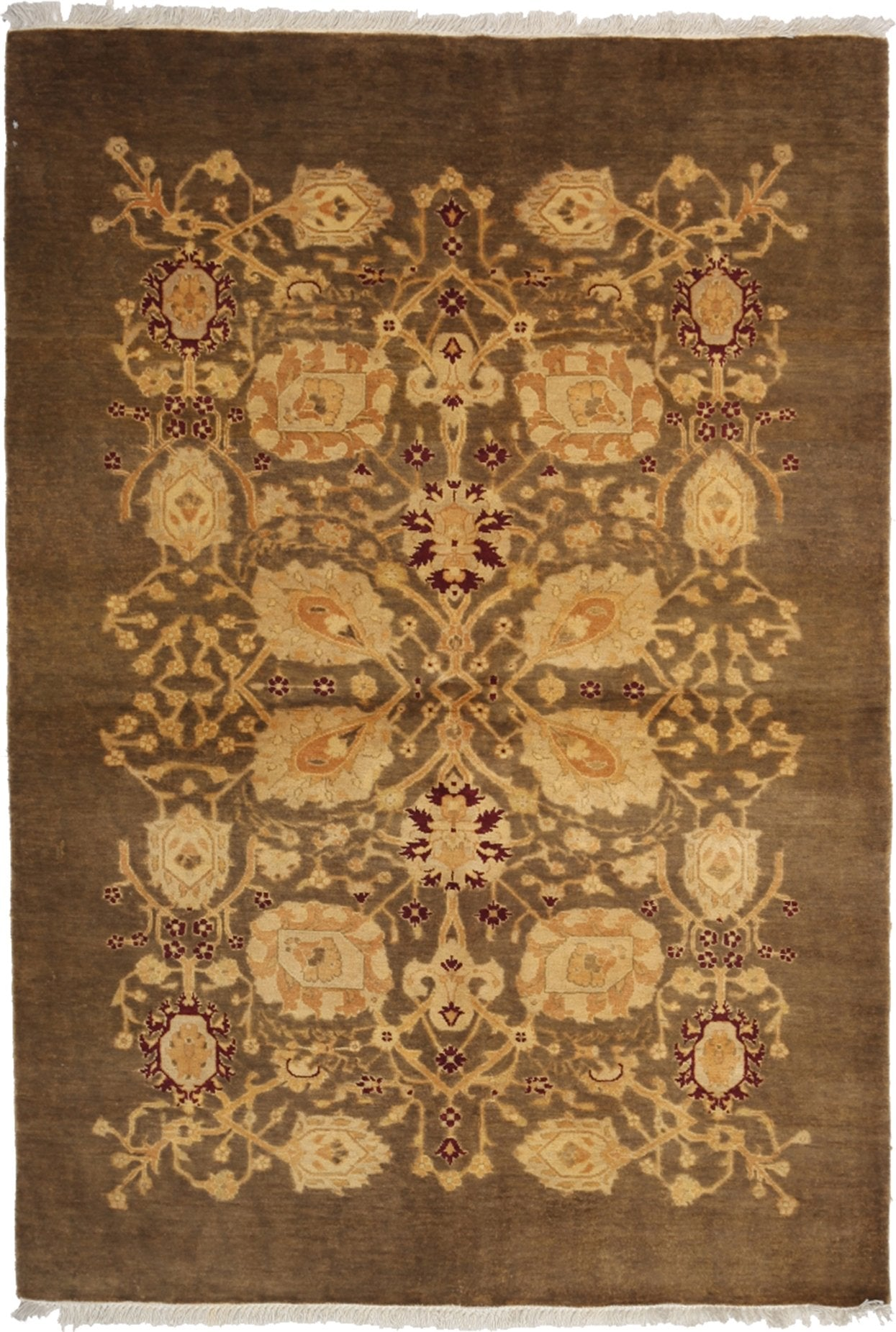 Oushak Brown Wool Area Rug 4 8 X 6 8 Lillian August