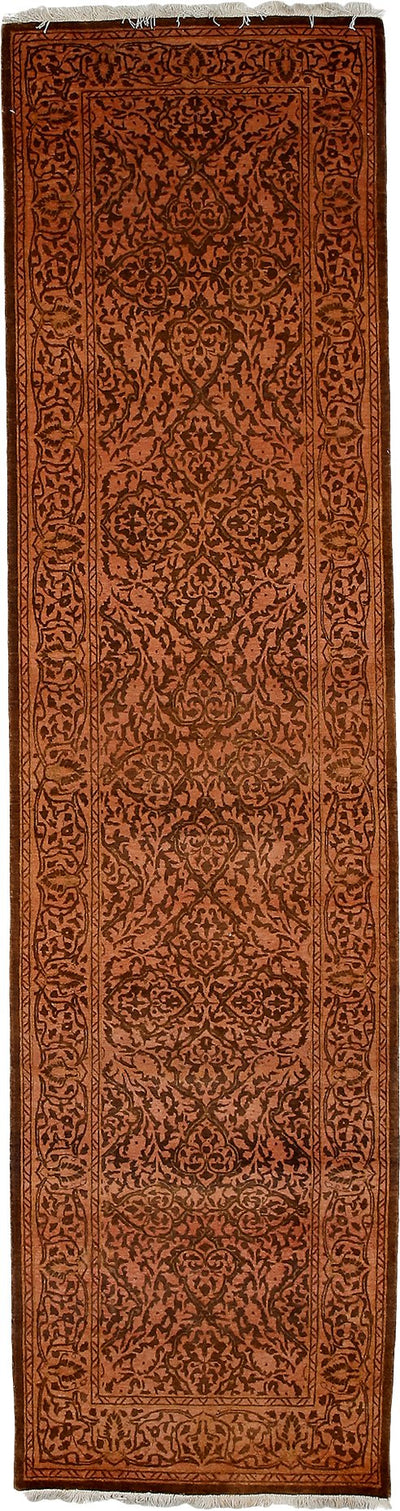 "Classic, Brown Wool Runner - 2' 7"" x 9' 10"""