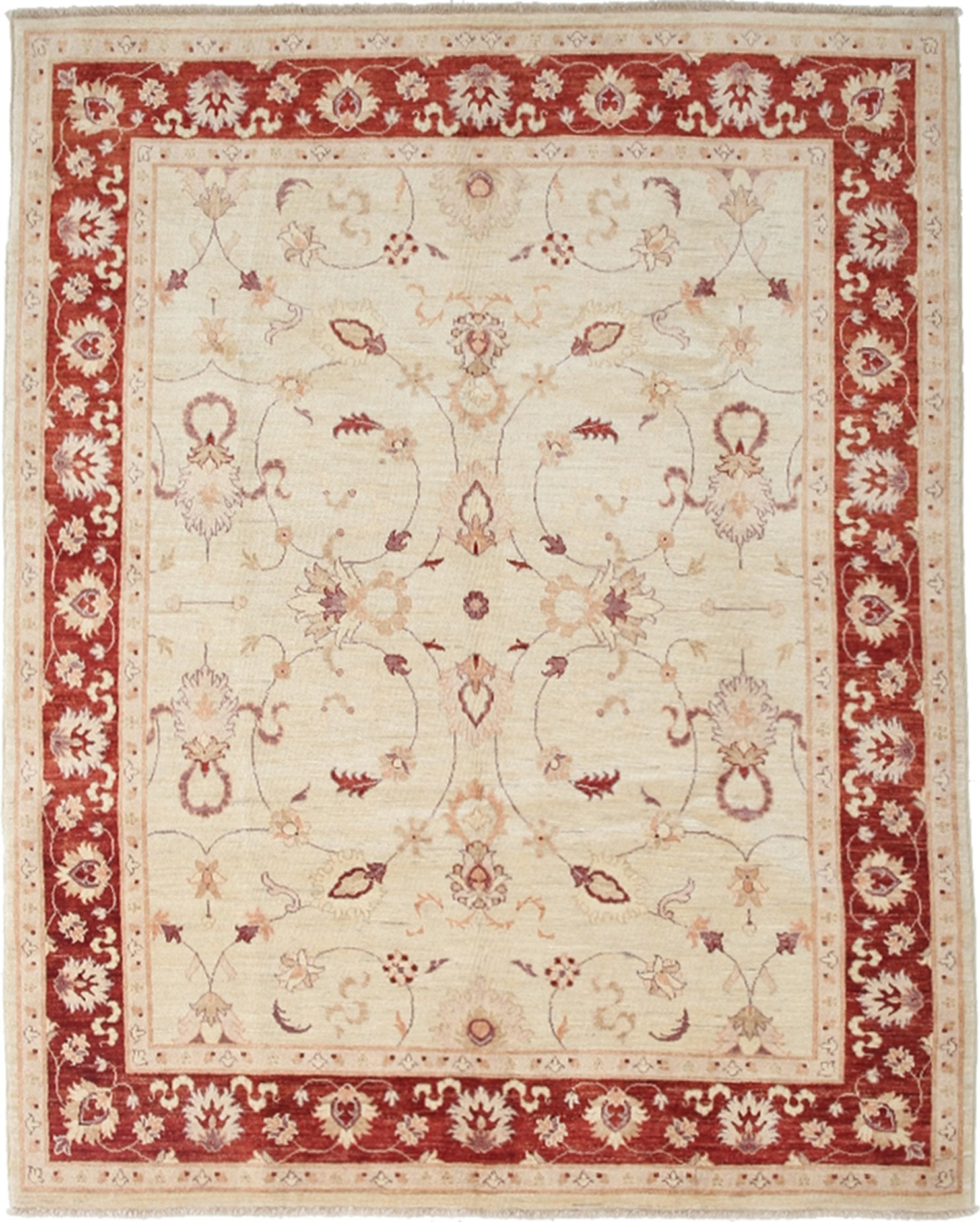 Oushak Ivory Wool Area Rug 6 7 X 8 2 Lillian August