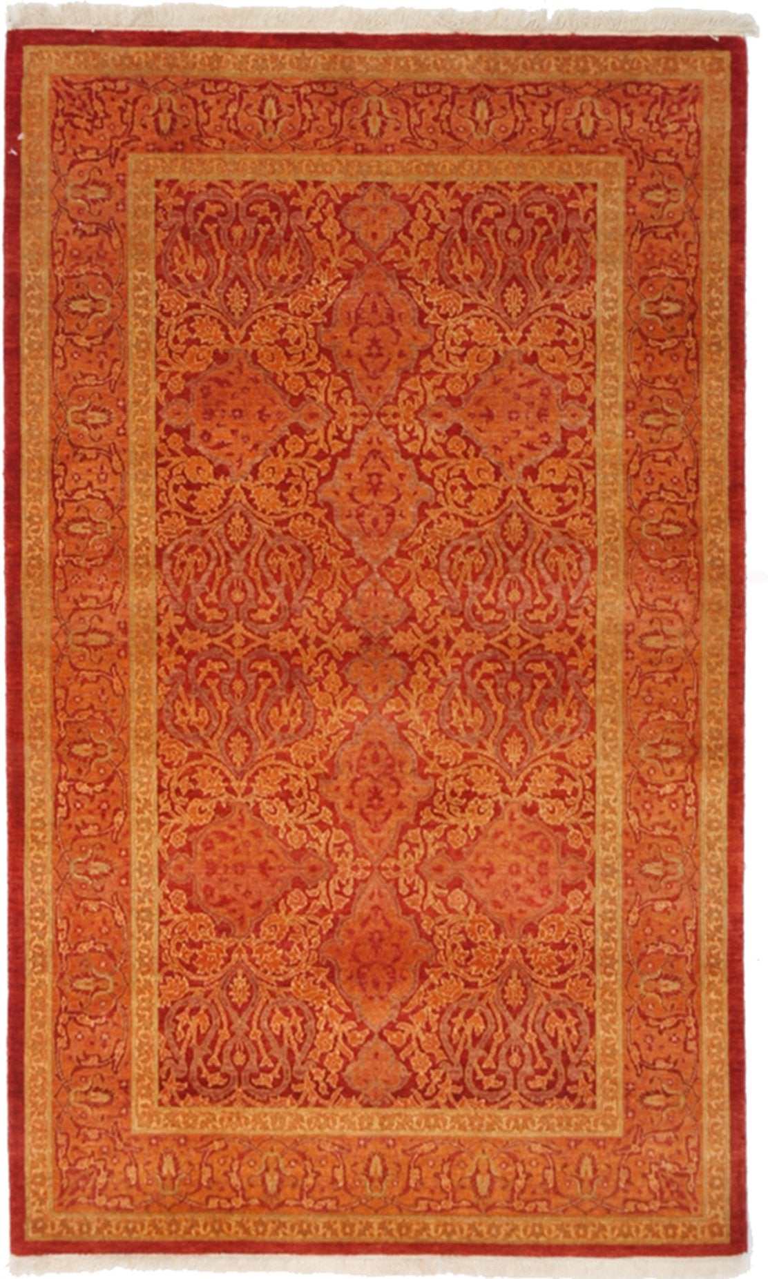 "Classic, Red Wool Area Rug - 3' 2"" x 5' 2"""
