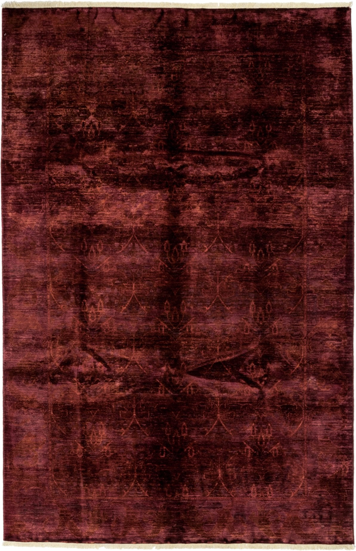 Classic Red Wool Area Rug 6 5 X 9 9 Lillian August