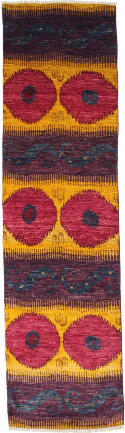 "Ikat, Multi Wool Runner - 3' 1"" x 11' 8"""