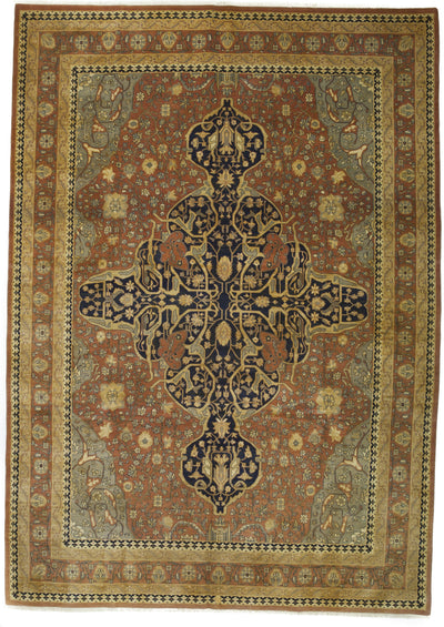 "Classic, Brown Wool Area Rug - 10' 0"" x 14' 1"""