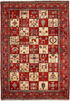 "Classic, Red Wool Area Rug - 6' 10"" x 9' 10"""