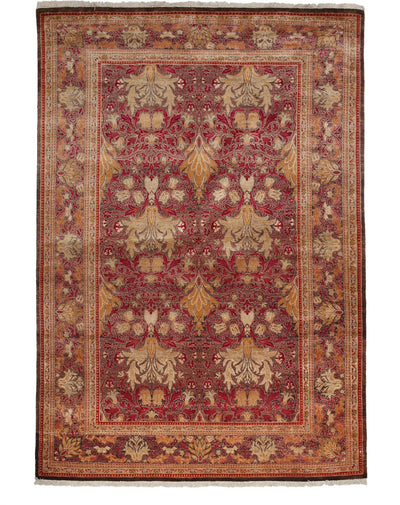 "Arts & Crafts, Red Wool Area Rug - 6' 0"" x 8' 9"""