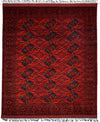 "Classic, Red Wool Area Rug - 8' 2"" x 9' 5"""