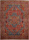"Classic, Red Wool Area Rug - 7' 10"" x 10' 9"""
