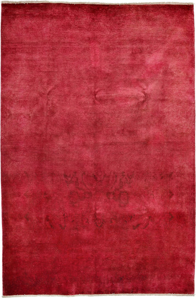 "Classic, Pink Wool Area Rug - 6' 0"" x 8' 10"""