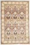 "Arts & Crafts, Beige Wool Area Rug - 4' 0"" x 5' 10"""