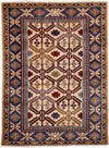 "Classic, Ivory Wool Area Rug - 3' 3"" x 4' 4"""