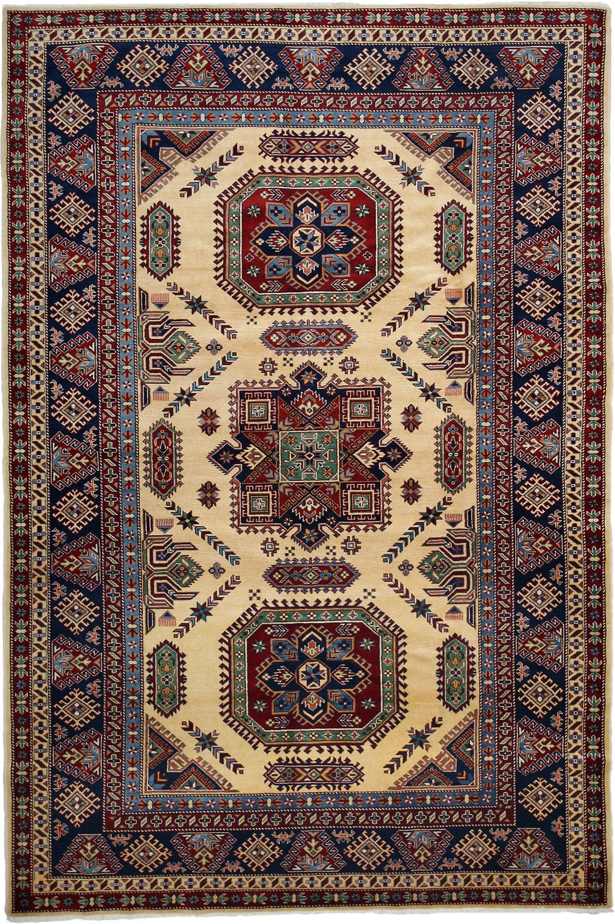 Classic Multi Wool Area Rug 7 2 X 10 6 Lillian August