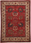 "Oushak, Red Wool Area Rug - 5' 7"" x 7' 9"""