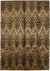 "Classic, Brown Wool Area Rug - 6' 10"" x 9' 9"""