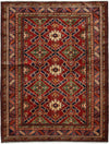 "Classic, Red Wool Area Rug - 5' 0"" x 6' 4"""