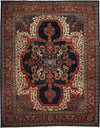 "Classic, Red Wool Area Rug - 9' 2"" x 11' 10"""