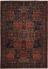 "Classic, Red Wool Area Rug - 6' 10"" x 9' 6"""