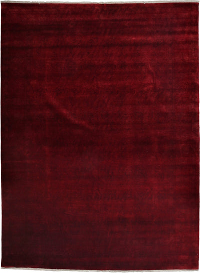 "Classic, Red Wool Area Rug - 9' 1"" x 12' 1"""