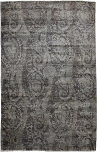 "Classic, Gray Wool Area Rug - 6' 0"" x 9' 2"""