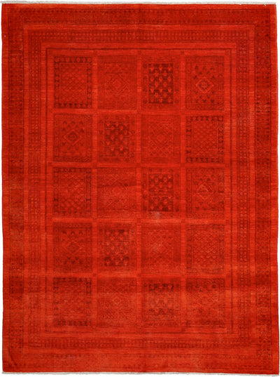 "Classic, Red Wool Area Rug - 5' 10"" x 7' 8"""