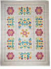 "Suzani, Gray Wool Area Rug - 9' 1"" x 12' 3"""