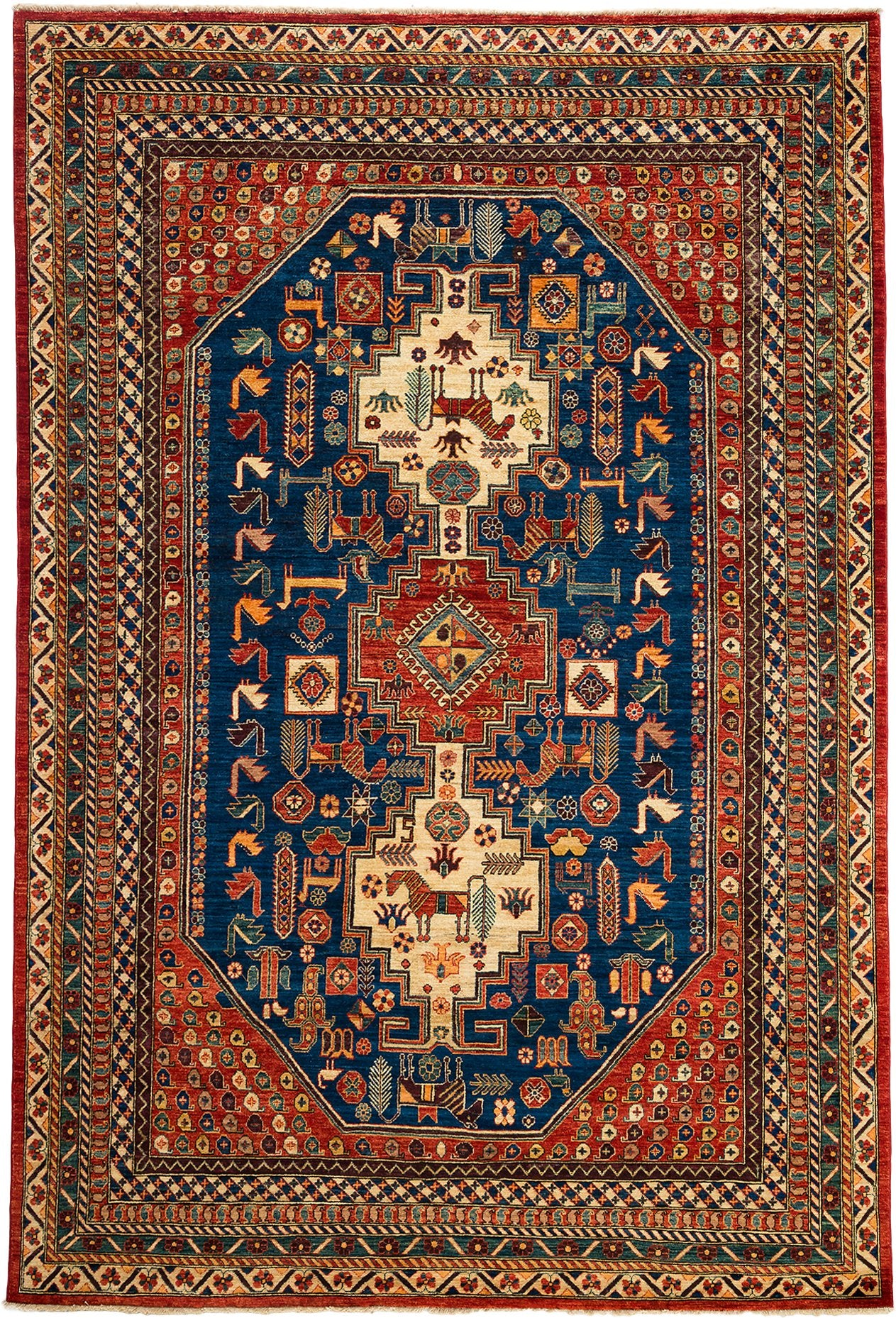 Classic Red Wool Area Rug 6 7 X 9 9 Lillian August