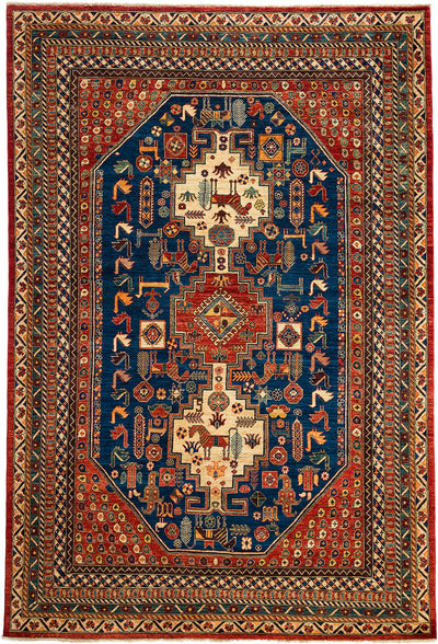 "Classic, Red Wool Area Rug - 6' 7"" x 9' 9"""