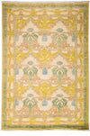 "Arts & Crafts, Yellow Wool Area Rug - 6' 2"" x 9' 1"""