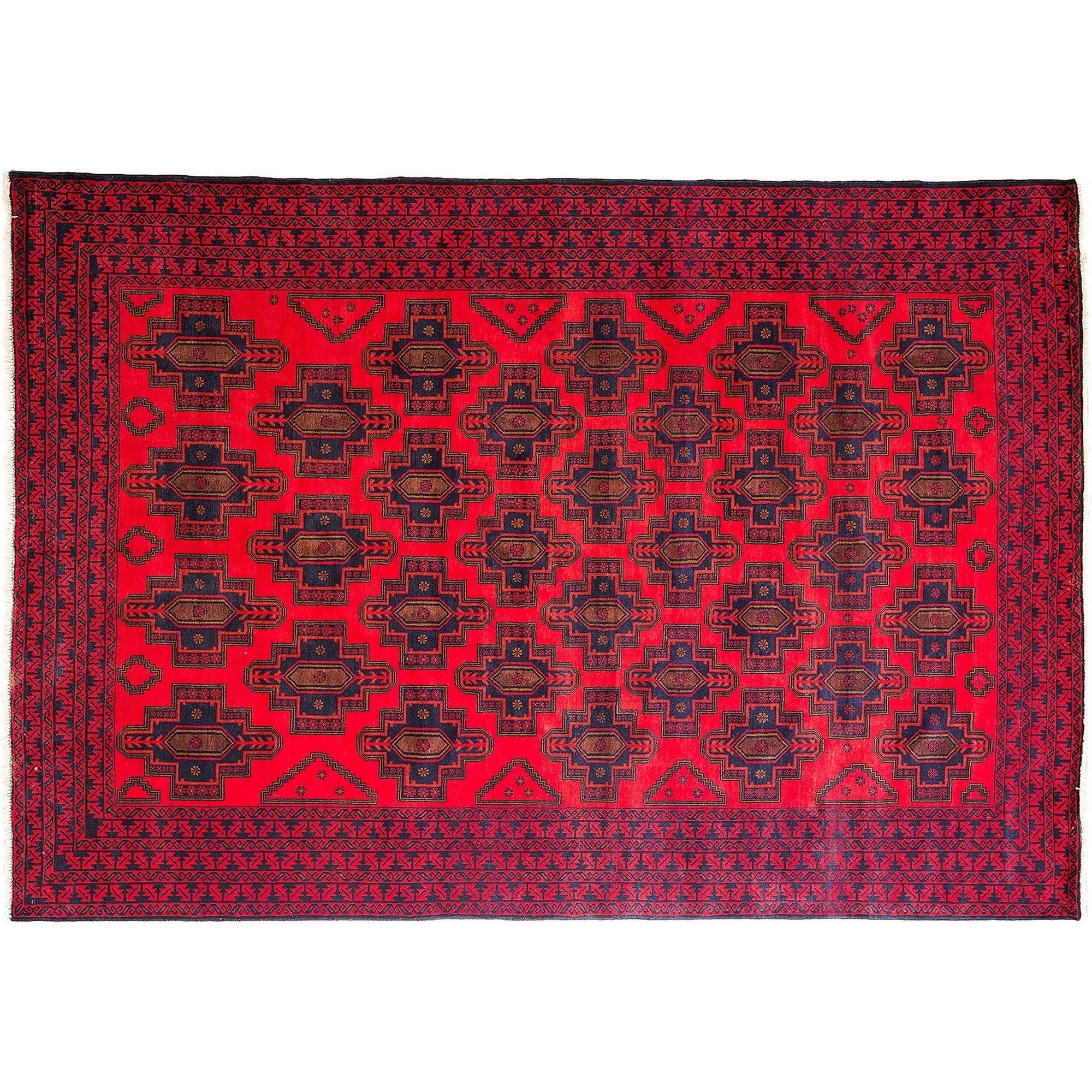 Tribal Red Wool Area Rug 6 8 X 9 7 Lillian August