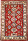 "Classic, Red Wool Area Rug - 4' 10"" x 7' 3"""