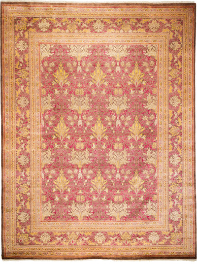 "Arts & Crafts, Red Wool Area Rug - 9' 1"" x 12' 0"""