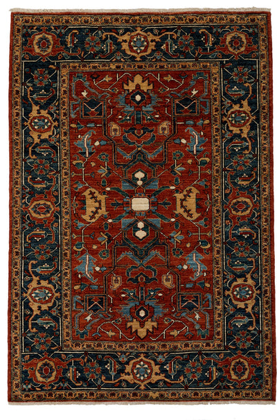"Classic, Red Wool Area Rug - 5' 4"" x 7' 10"""