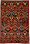 "Classic, Red Wool Area Rug - 6' 1"" x 8' 9"""