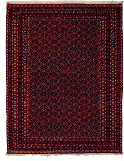 "Classic, Red Wool Area Rug - 6' 5"" x 8' 10"""