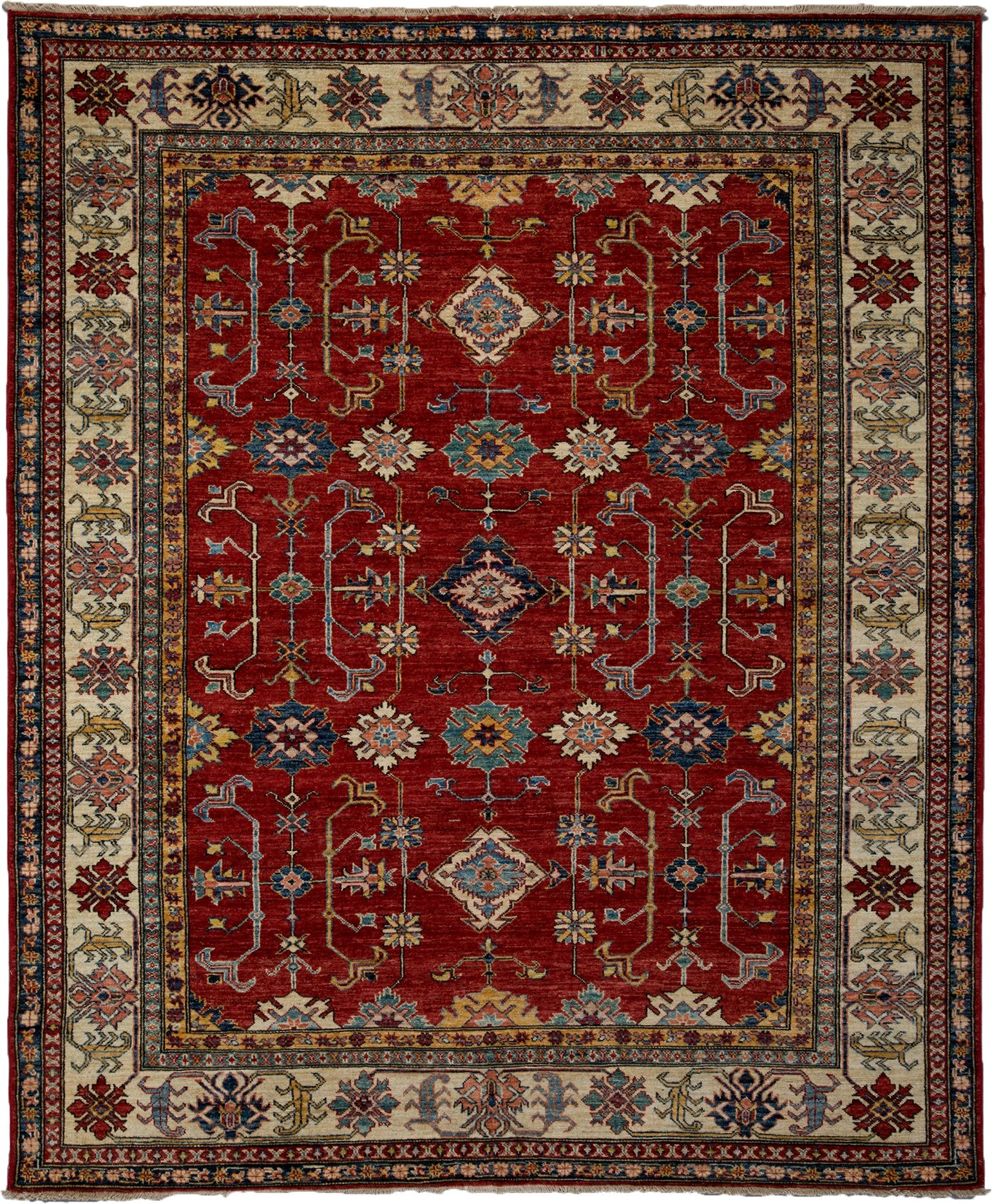 Classic Red Wool Area Rug 6 7 X 8 0 Lillian August