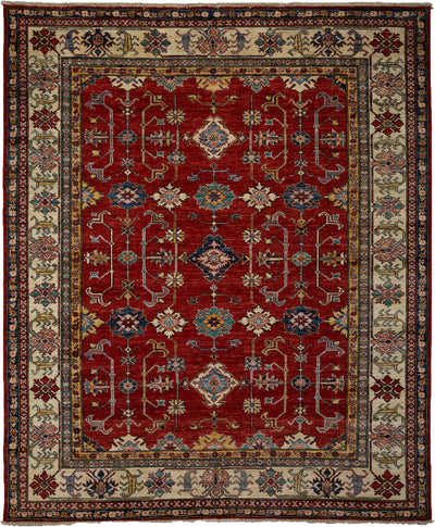"Classic, Red Wool Area Rug - 6' 7"" x 8' 0"""