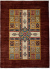 "Oushak, Brown Wool Area Rug - 5' 9"" x 7' 8"""