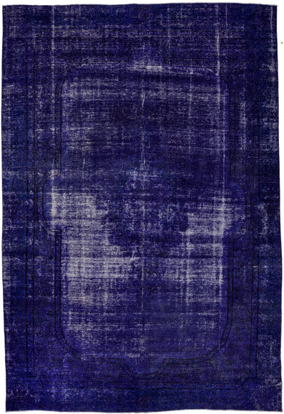 "Vintage, Purple Wool Area Rug - 8' 10"" x 12' 5"""